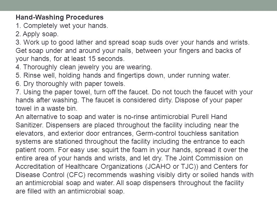 Hand-Washing Procedures