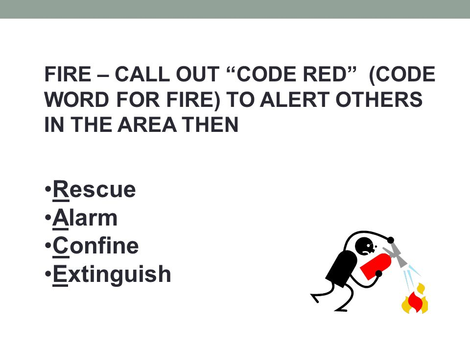 Rescue Alarm Confine Extinguish