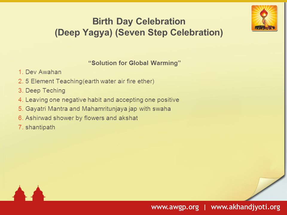 Birth Day Celebration (Deep Yagya) (Seven Step Celebration)