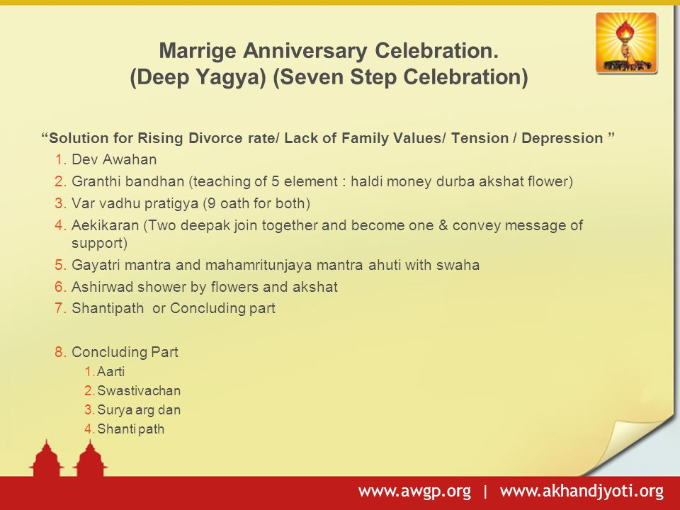 Marrige Anniversary Celebration. (Deep Yagya) (Seven Step Celebration)