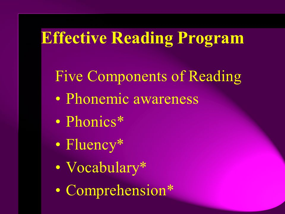 Effective Reading Program