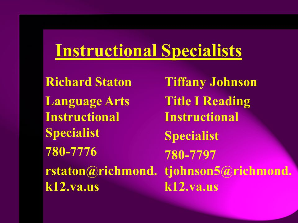 Instructional Specialists