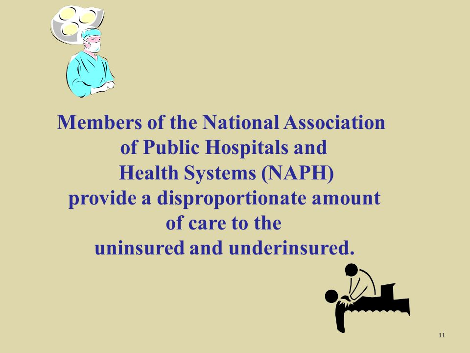 Members of the National Association of Public Hospitals and