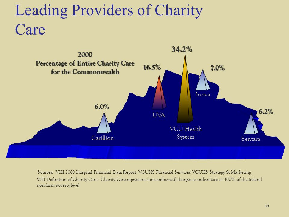 Leading Providers of Charity Care