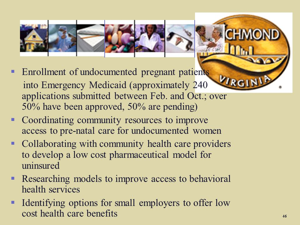 REACH Initiatives Enrollment of undocumented pregnant patients