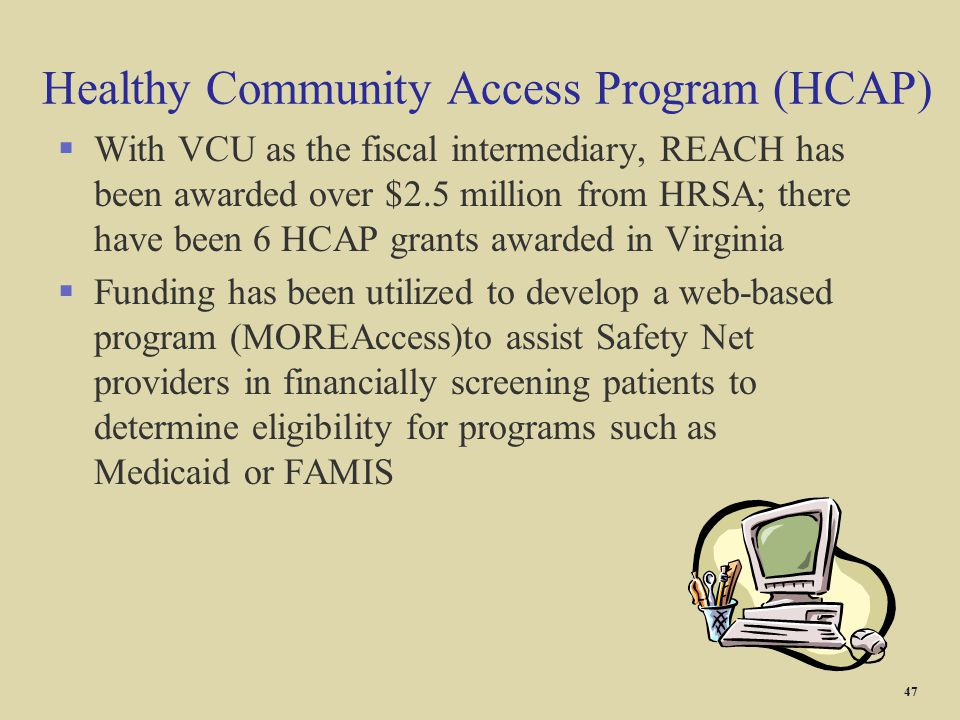 Healthy Community Access Program (HCAP)