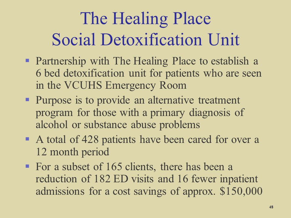 The Healing Place Social Detoxification Unit