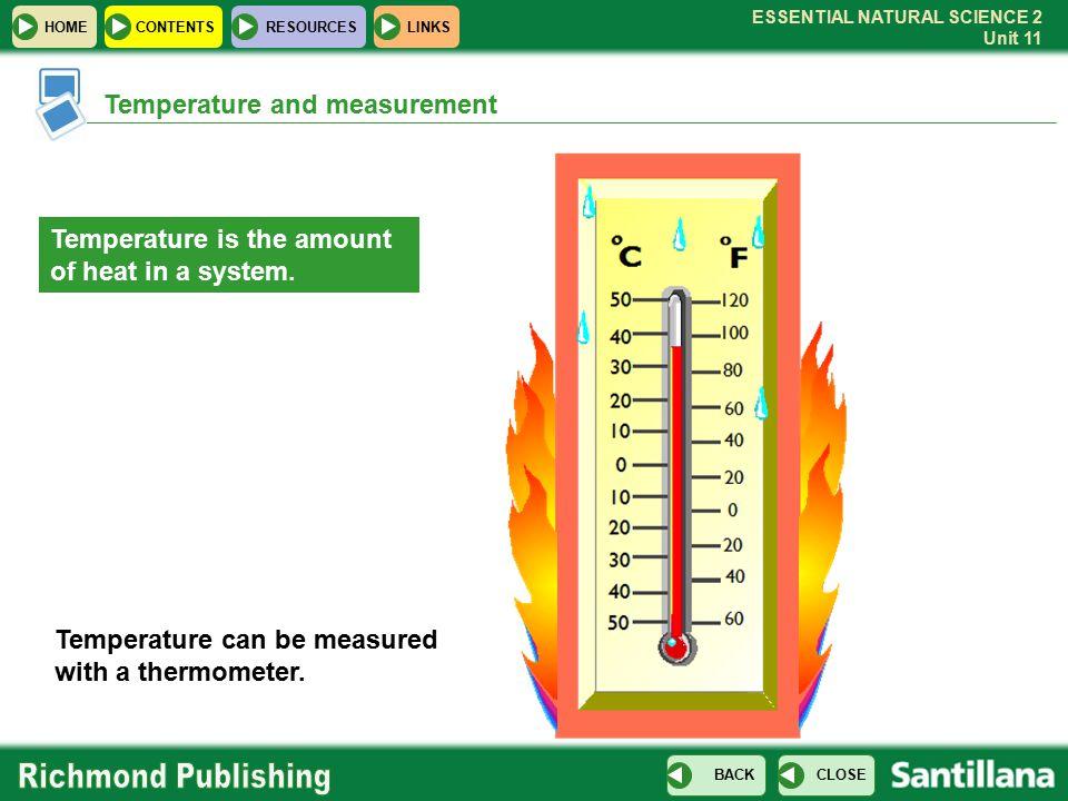 Temperature and measurement