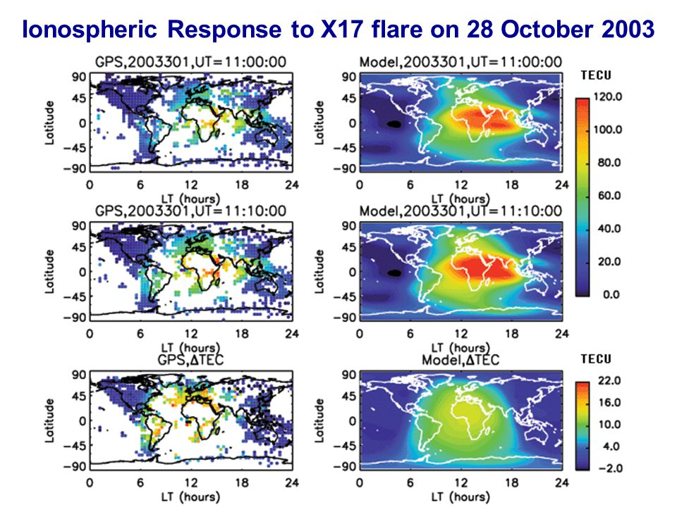 Ionospheric Response to X17 flare on 28 October 2003