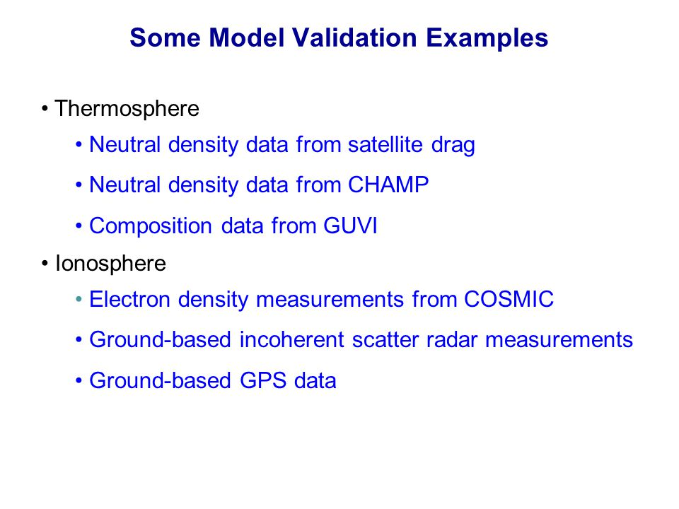 Some Model Validation Examples