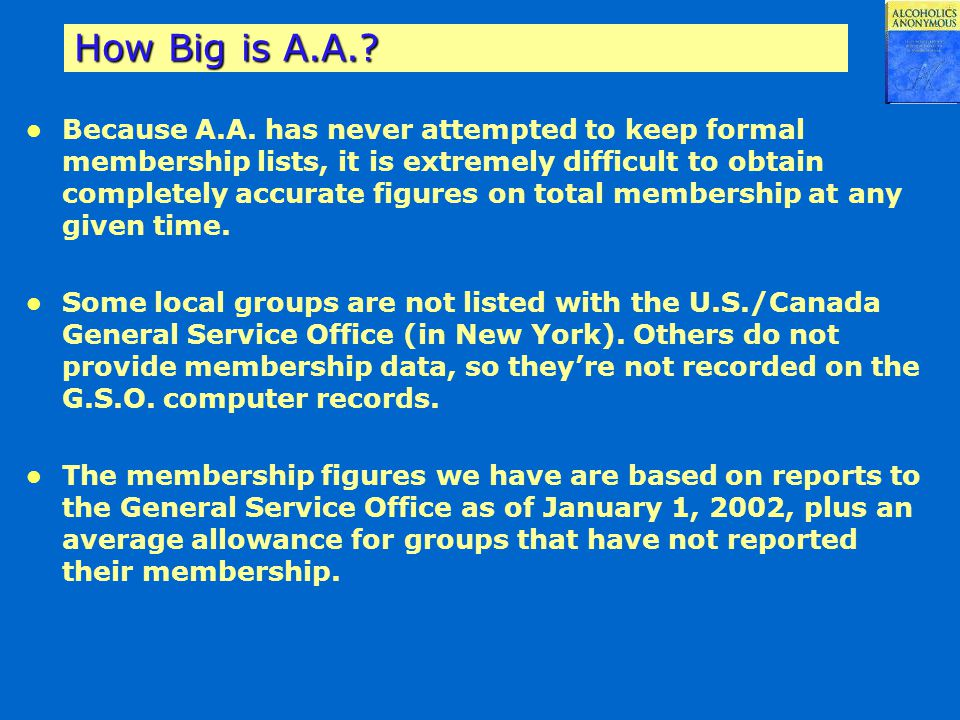 How Big is A.A.