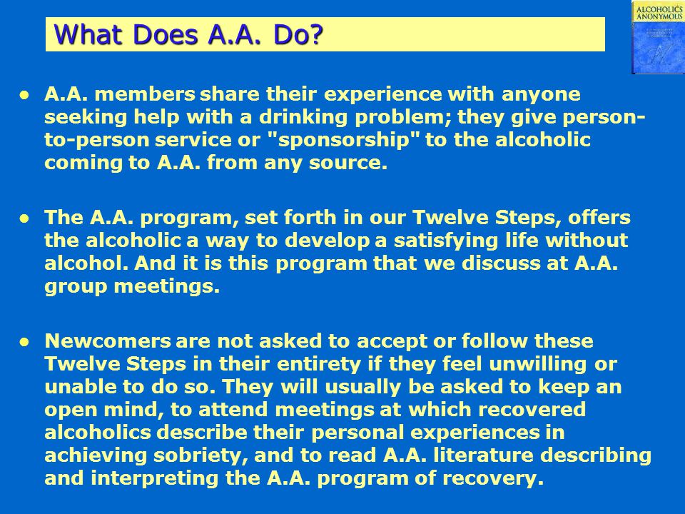 What Does A.A. Do
