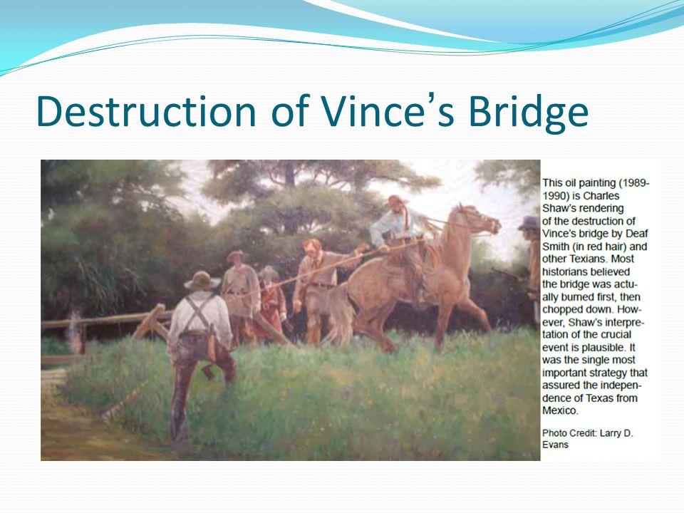 Destruction of Vince's Bridge