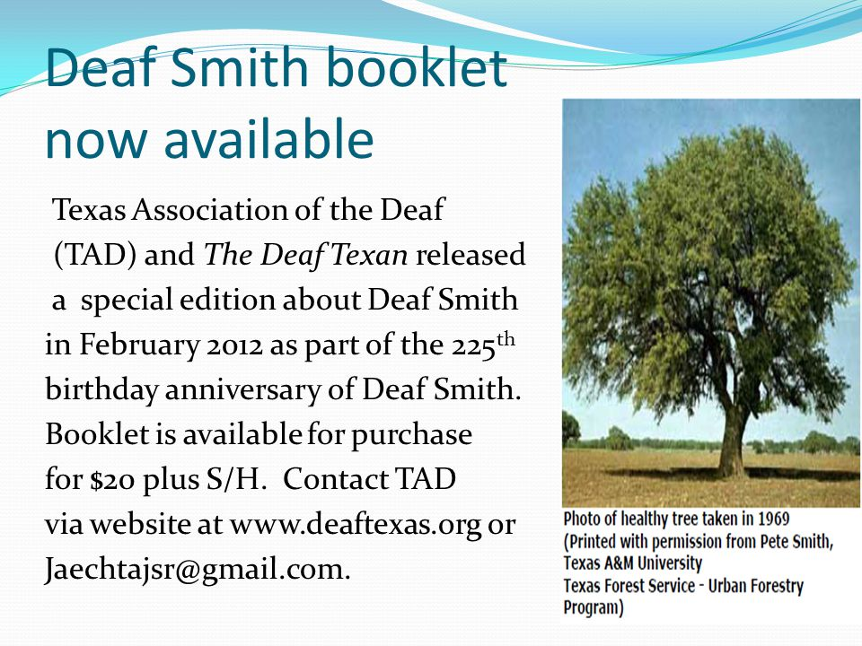 Deaf Smith booklet now available