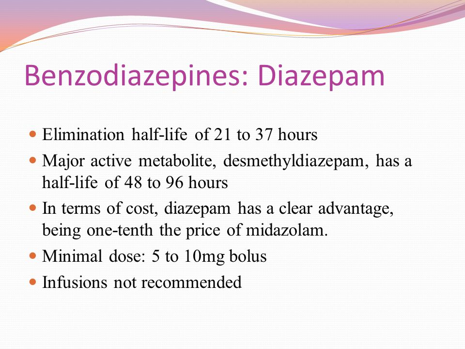 Benzodiazepines: Diazepam
