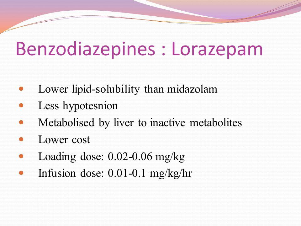 Benzodiazepines : Lorazepam
