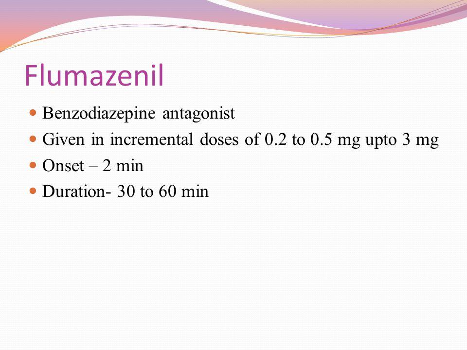 Flumazenil Benzodiazepine antagonist