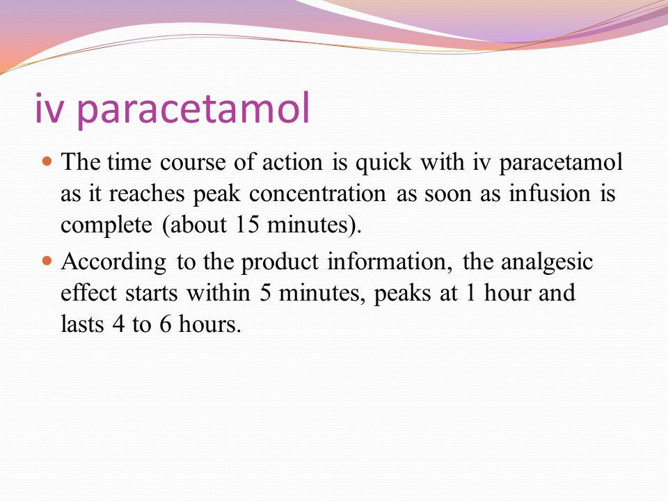 iv paracetamol