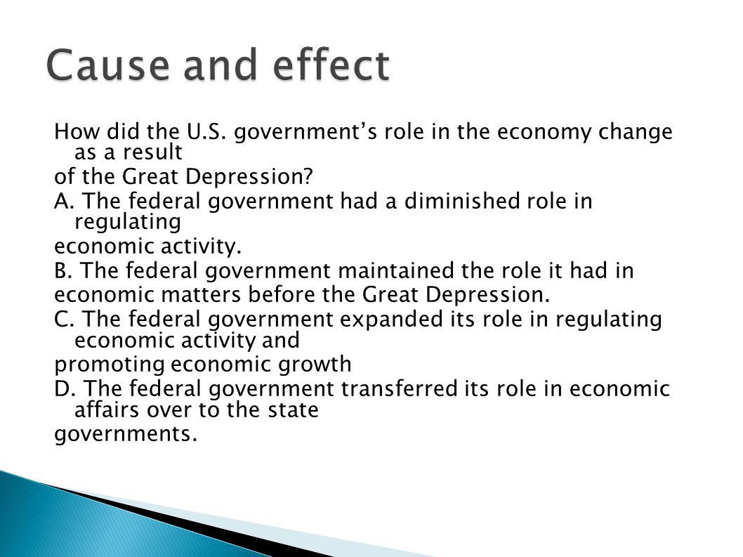 role of government in economic affairs