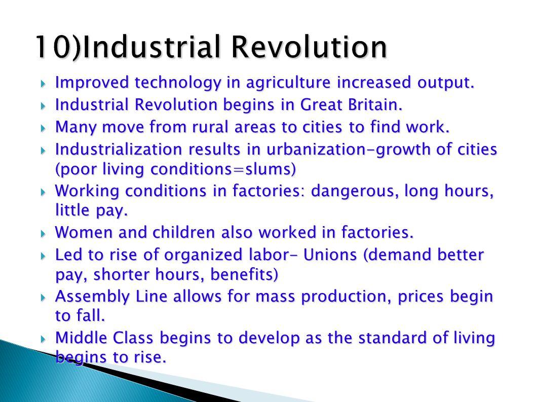 10)Industrial Revolution