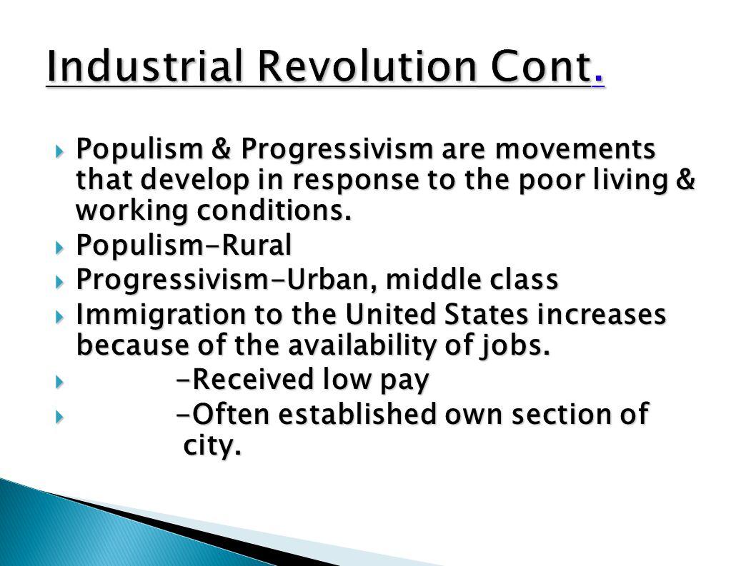 Industrial Revolution Cont.