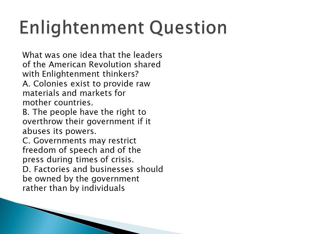 Enlightenment Question