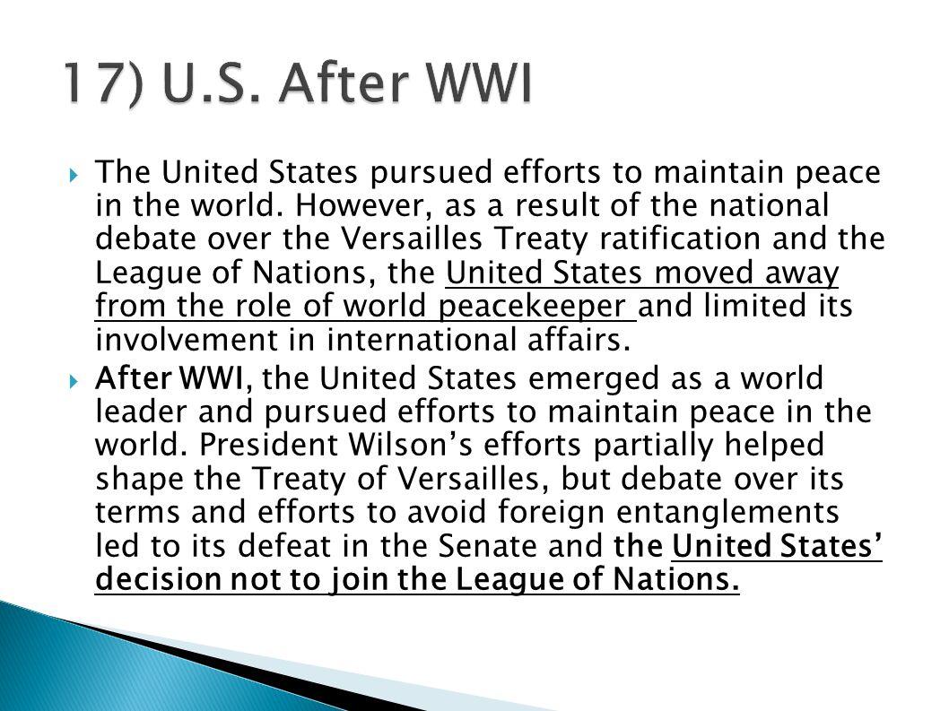 17) U.S. After WWI