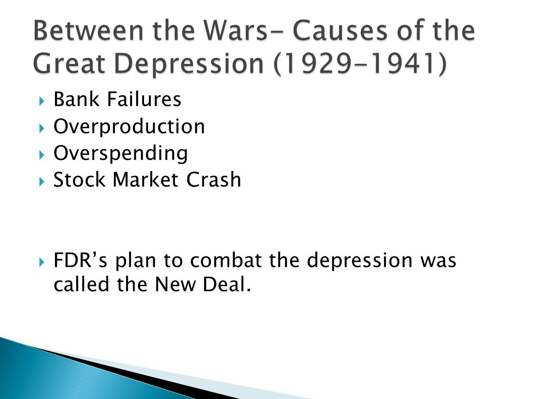 Between the Wars- Causes of the Great Depression (1929-1941)