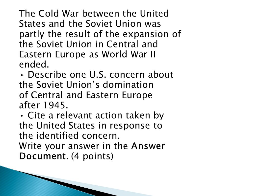 The Cold War between the United
