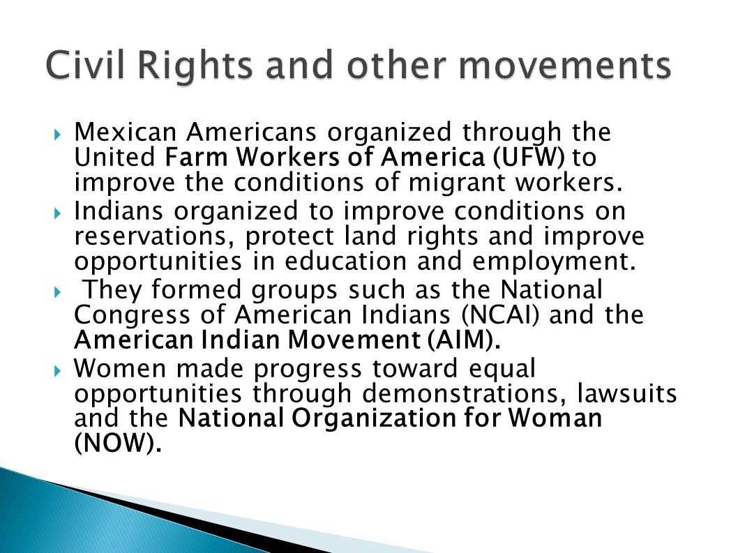 Civil Rights and other movements