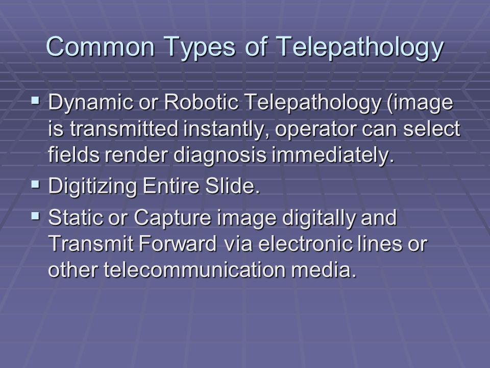 Common Types of Telepathology
