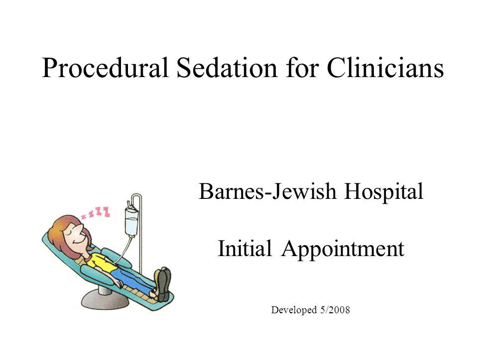 Procedural Sedation for Clinicians