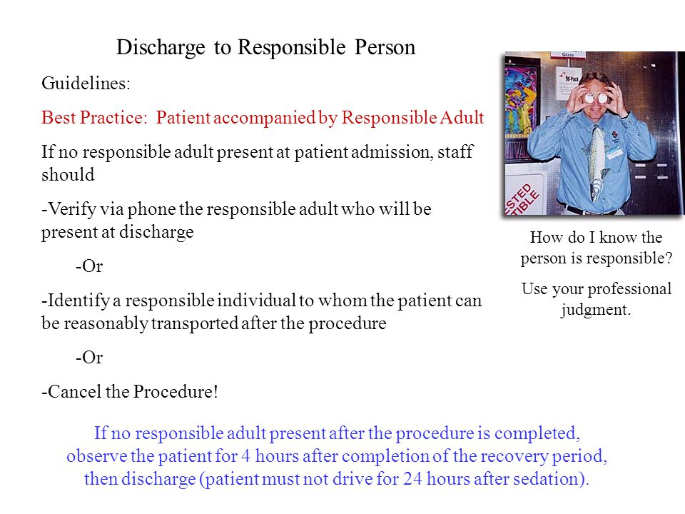 Discharge to Responsible Person
