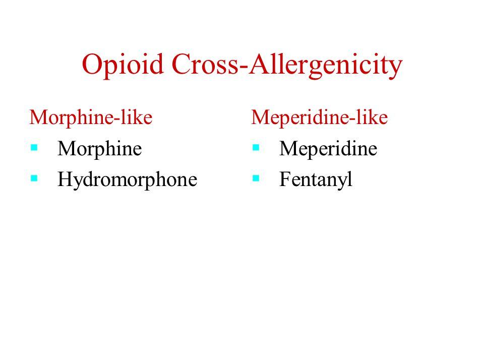 Opioid Cross-Allergenicity