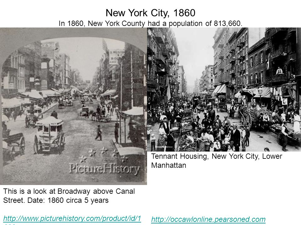 In 1860, New York County had a population of 813,660.