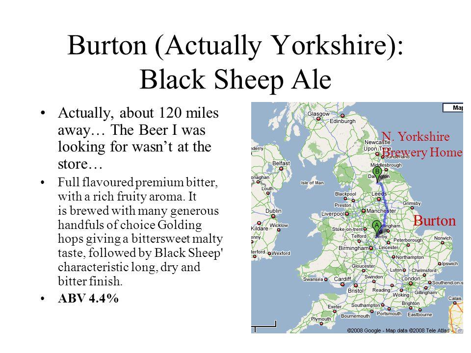 Burton (Actually Yorkshire): Black Sheep Ale