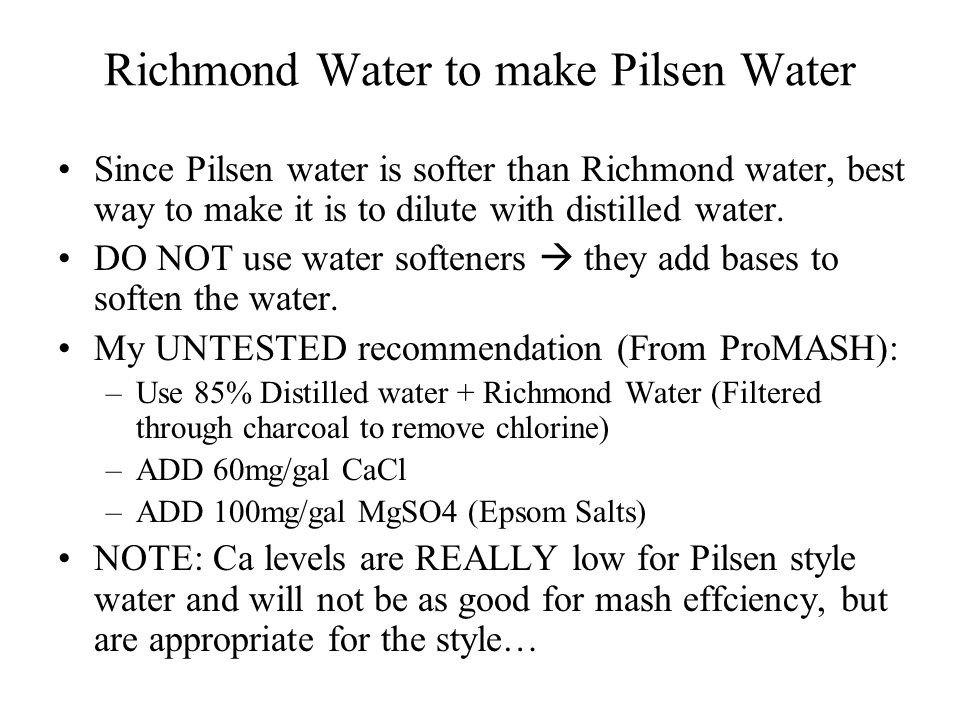 Richmond Water to make Pilsen Water