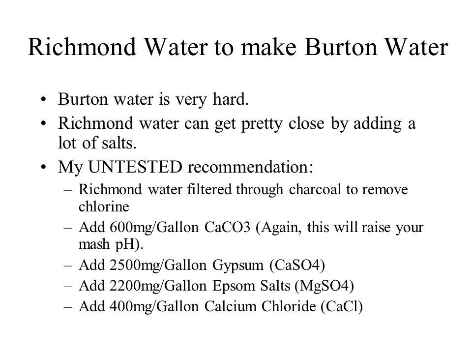 Richmond Water to make Burton Water
