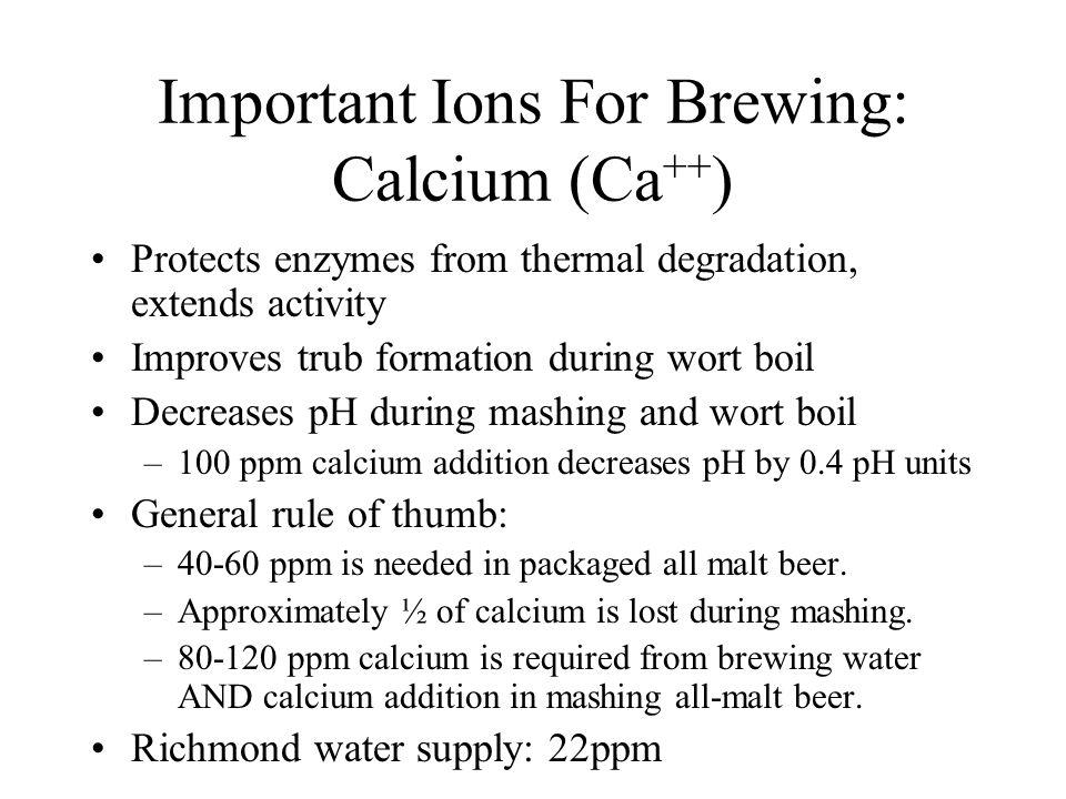 Important Ions For Brewing: Calcium (Ca++)