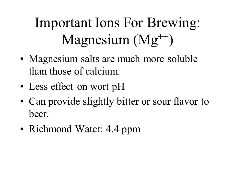 Important Ions For Brewing: Magnesium (Mg++)