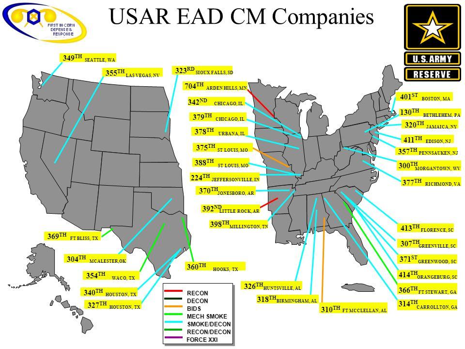 USAR EAD CM Companies 349TH 323RD 355TH 704TH 401ST 342ND 130TH 379TH