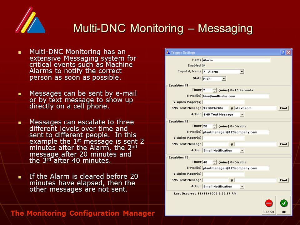 Multi-DNC Monitoring – Messaging