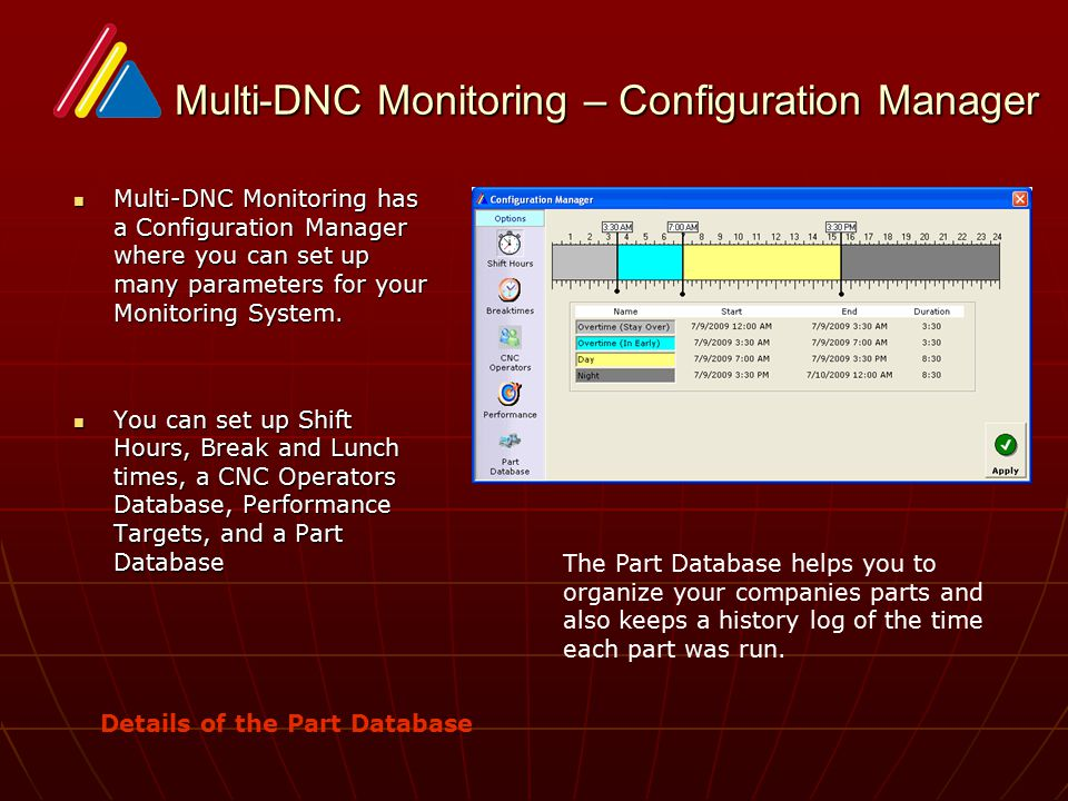 Multi-DNC Monitoring – Configuration Manager