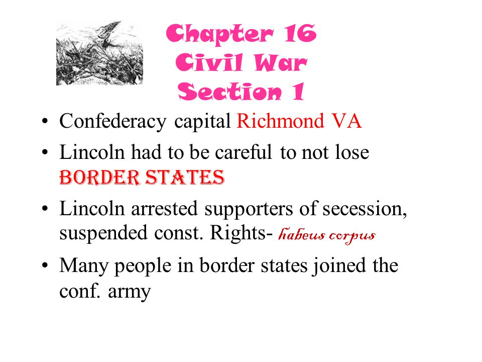 Chapter 16 Civil War Section 1