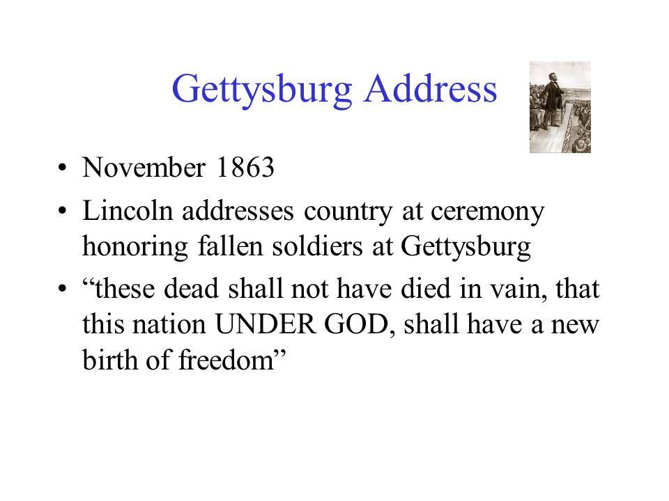 Gettysburg Address November 1863