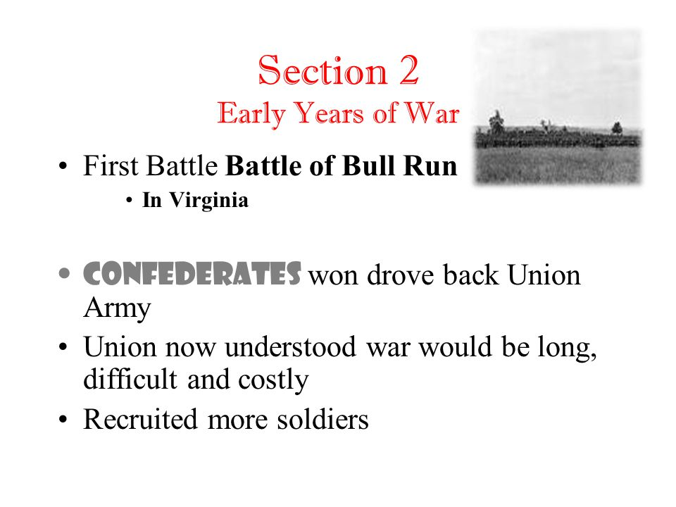 Section 2 Early Years of War