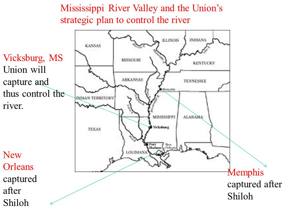 Mississippi River Valley and the Union's strategic plan to control the river