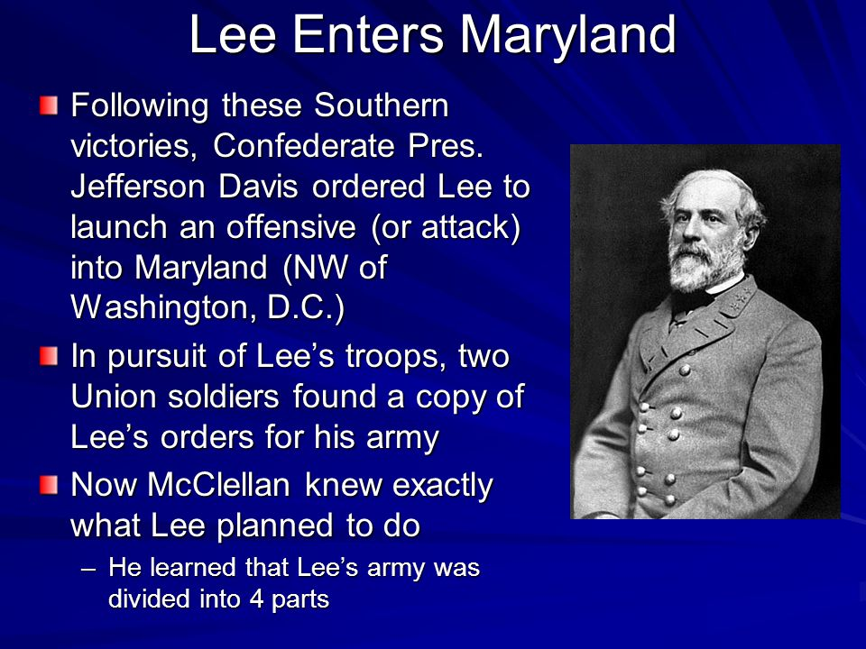 Lee Enters Maryland