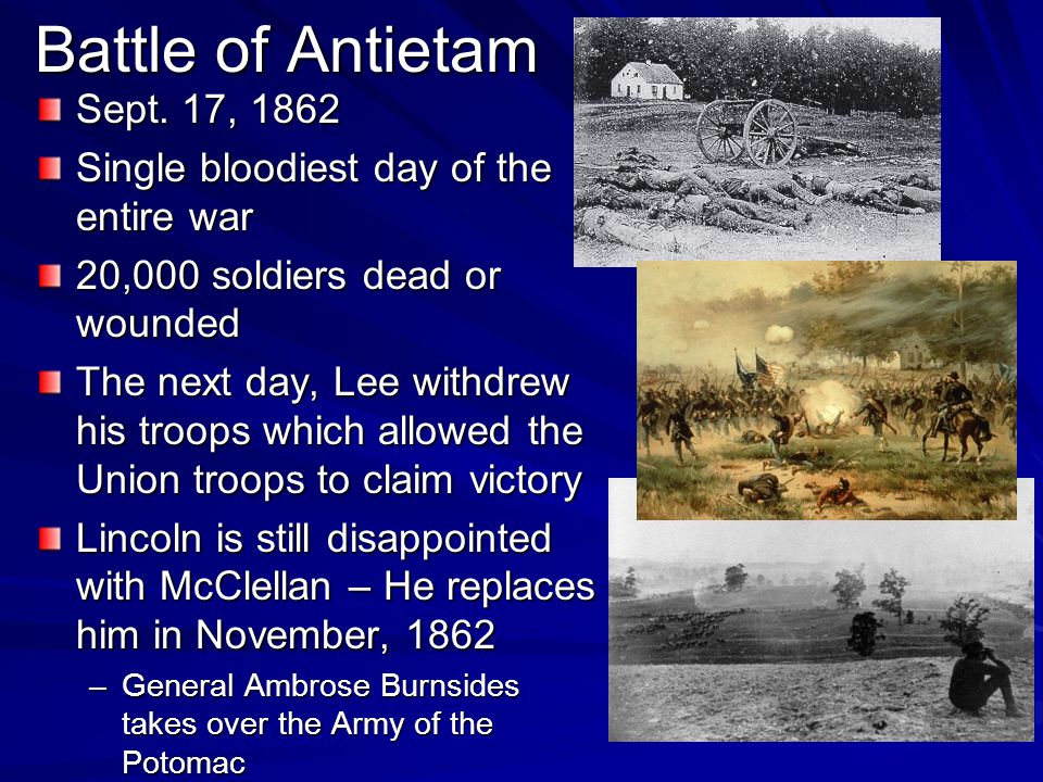 Battle of Antietam Sept. 17, 1862