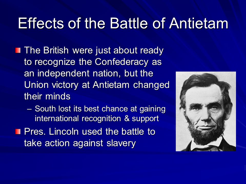 Effects of the Battle of Antietam